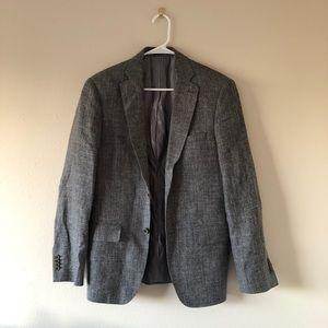 John Varvatos Grey Suit Jacket Blazer